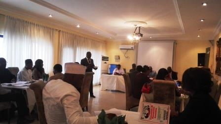 FRANK OYORHIGHO PRESENTING A PAPER ON BUSINESS PLAN WRITING AND BUDGETING AT A SEMINAR ORGANISED BY THE INSTITUTE OF MANAGEMENT CONSULTANT AT ABUJA ON 23RD JULY 2015